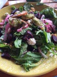 Shrimp salad at Duke's Kauai