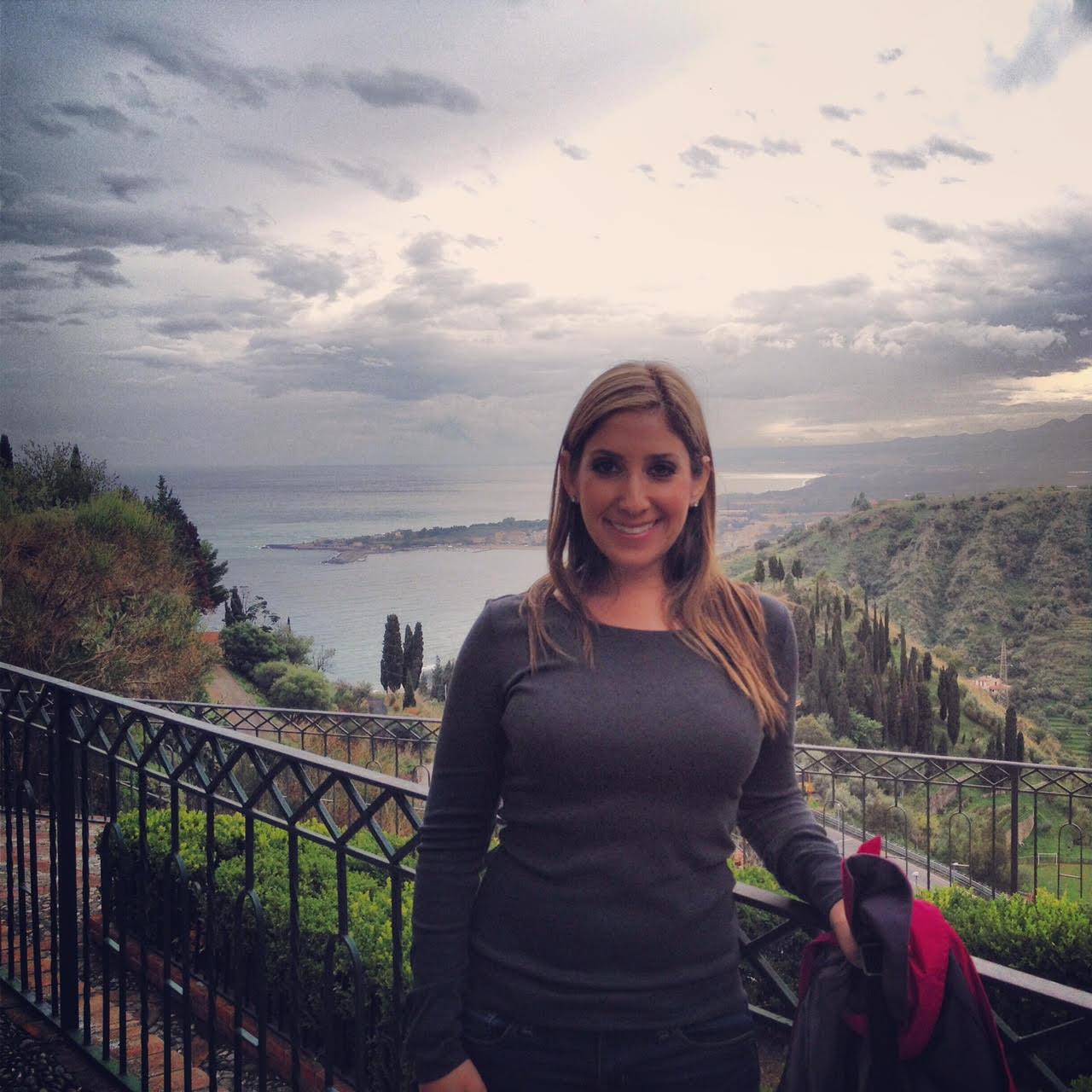 Jill in Taormina, Sicily