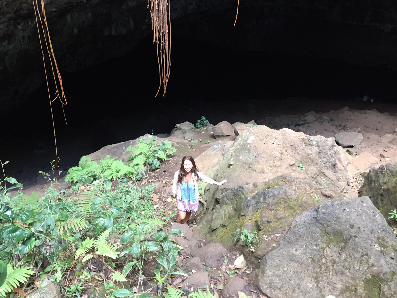 Waikapalae Cave, also known as the Blue Room, Kauai