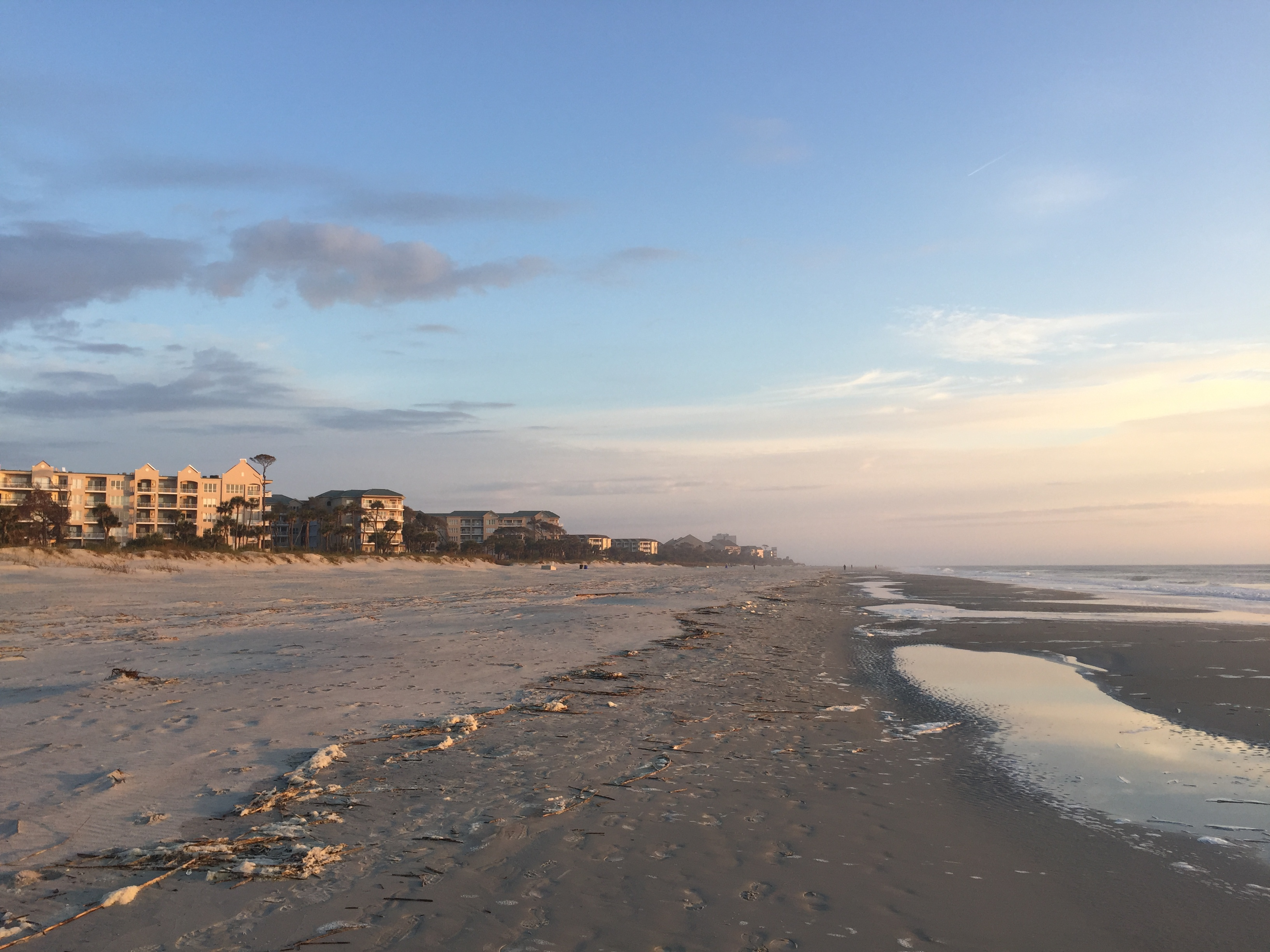 Deserted beach Hilton Head
