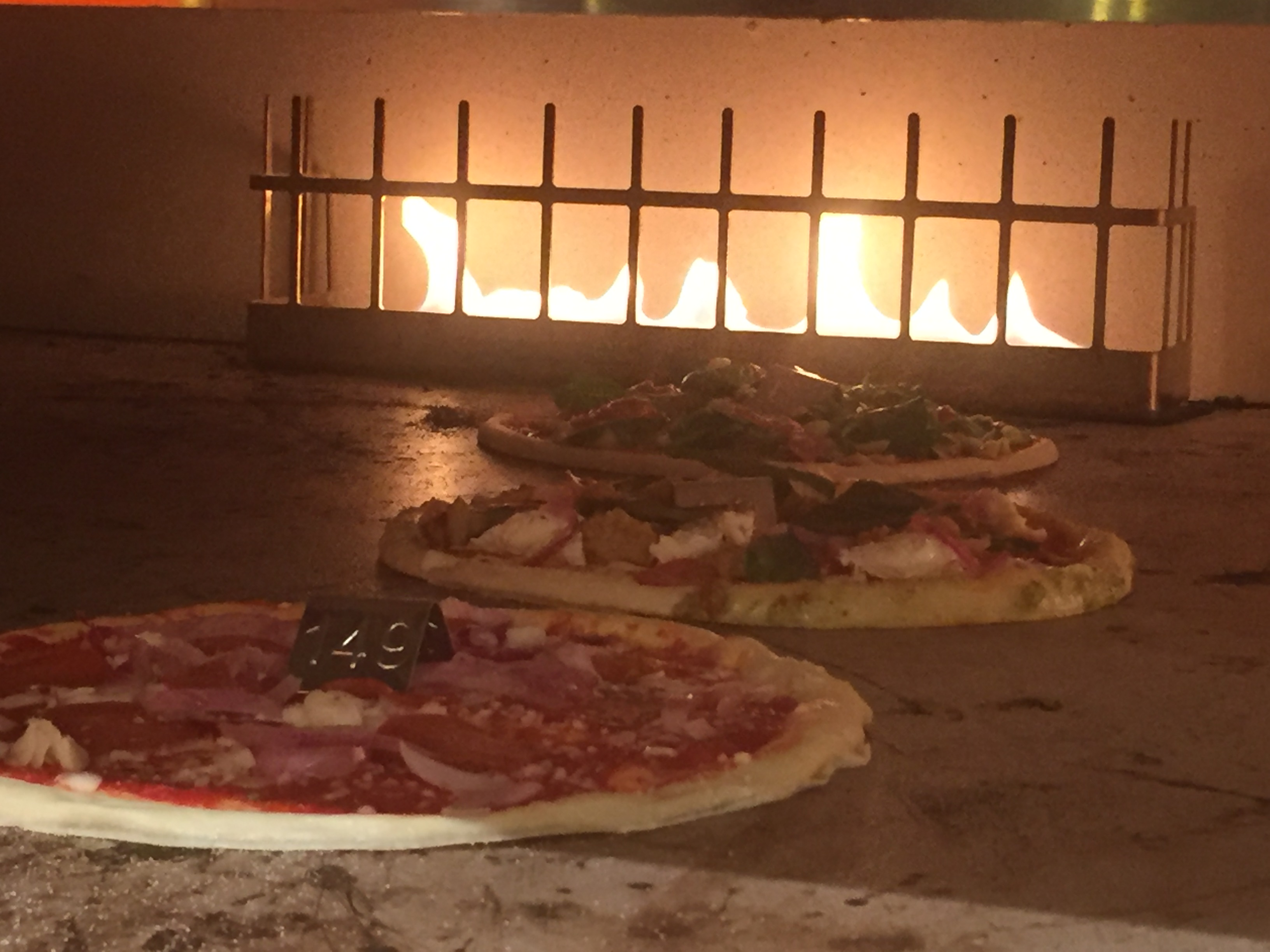 pizza oven at Blaze Pizza