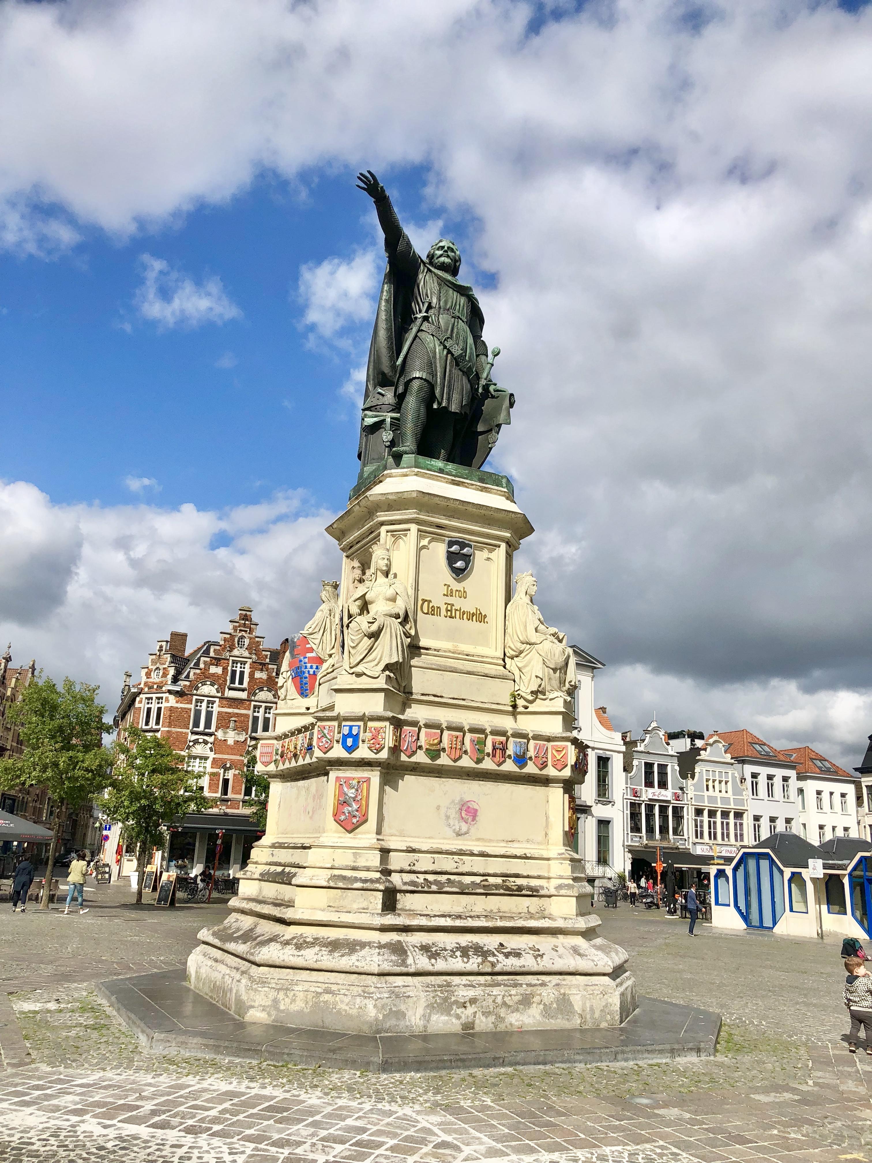 Ghent Belgium Vrijdagmarkt