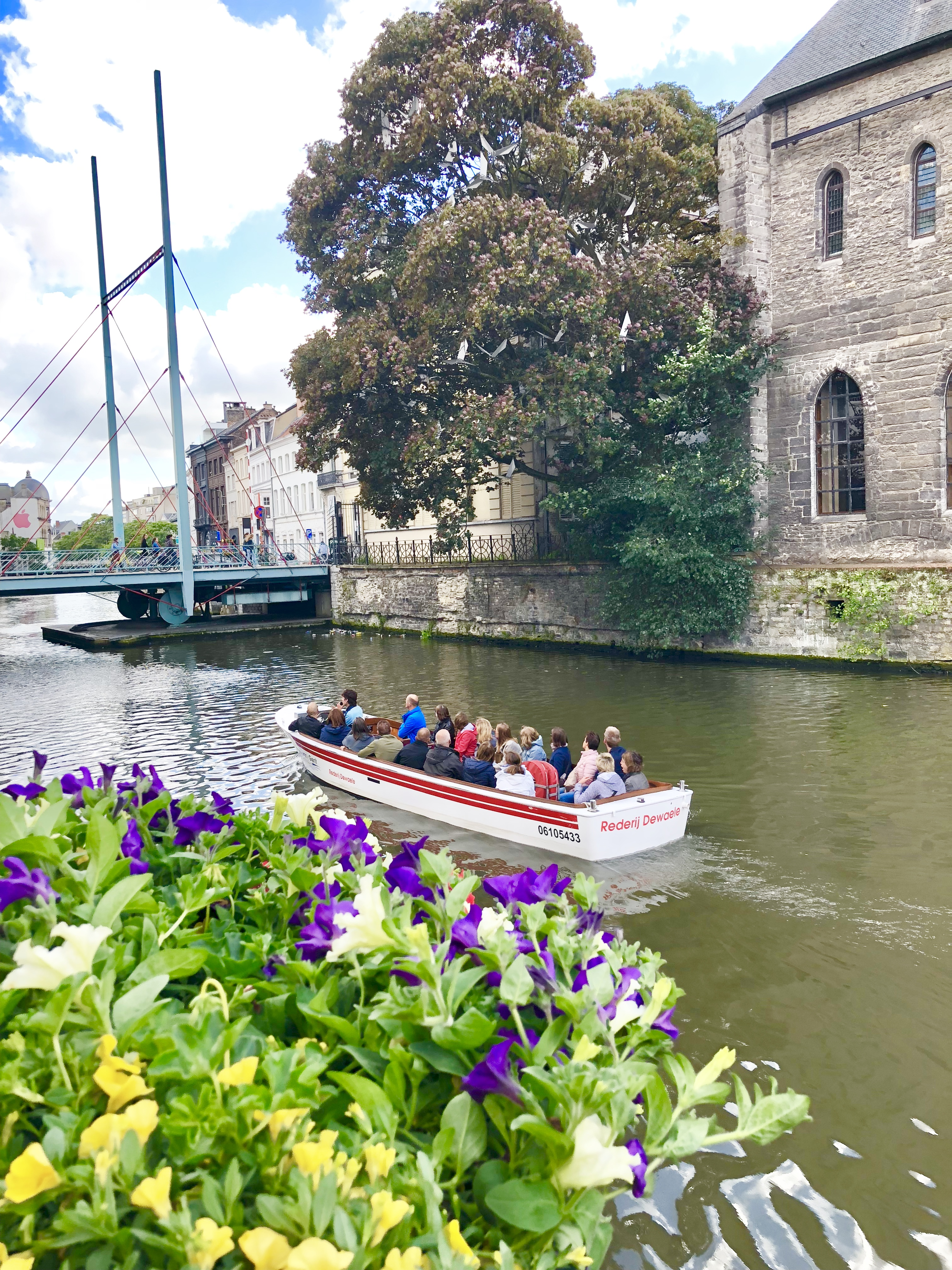 Ghent Belgium canal boat tour